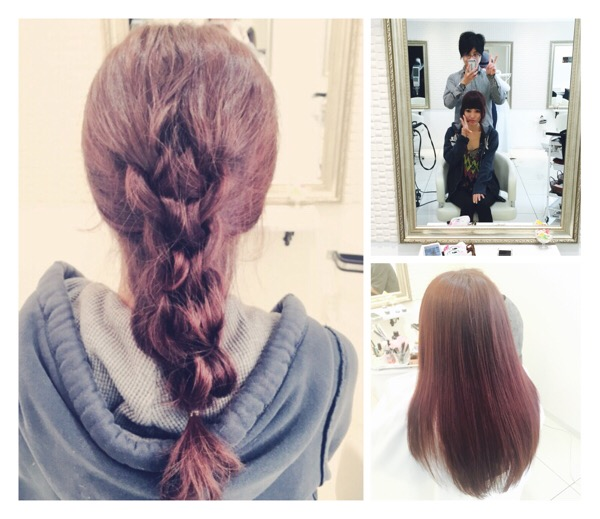 【アランセーター編み】と艶カラー♪お客様【せりちゃん】が髪の毛やりに来てくれた♪@大阪@豊中