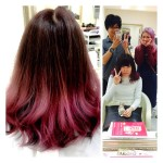 【パープリッシュラベンダーグラデーション】ブログ見て初ご来店の【れなさん】の髪