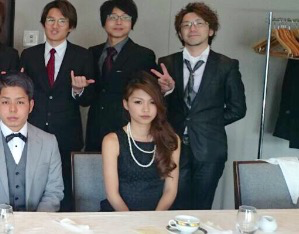 入社式の模様☆その3☆メガネトリオがいました(笑)