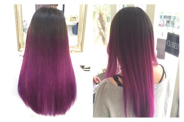 パープルカラーがよく似合う。アーティスト【チアキコハラさん】の髪。