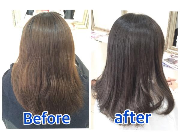 積み重ねるアッシュグレーのグラデーションカラーが綺麗すぎる件。【まゆさん】の髪。