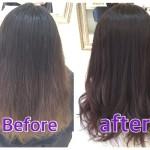 【ボルドー系カラー】艶感と透明感のあるパープルアッシュグレーのナチュラルグラデーションカラー【かおりさん】の髪。