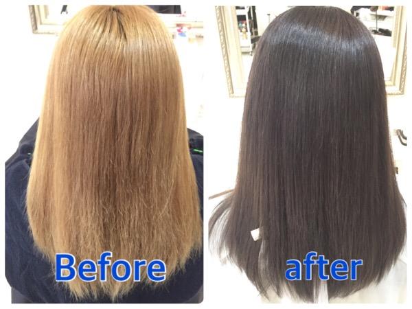 金髪からの濃いめアッシュグレーのクオリティーの高さは驚異的です!【みやちゃん】の髪。