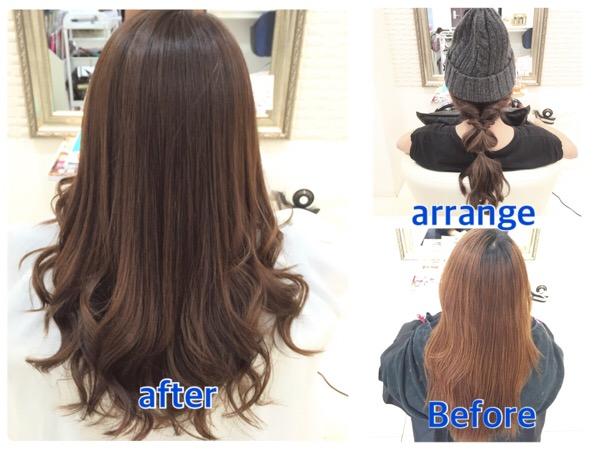 髪の毛を綺麗に見せるカラーはこれだ!【めぐちゃん】の髪。