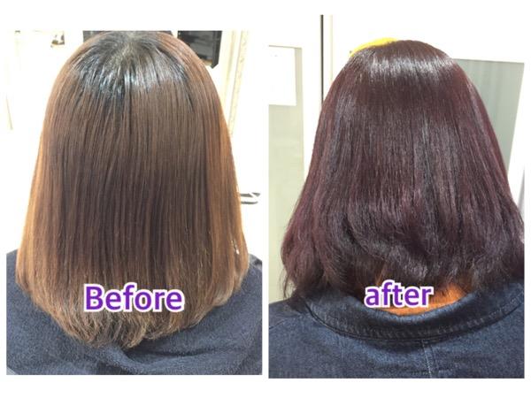 上質なパープルアッシュグレーの艶感が綺麗すぎる!【みくさん】の髪。