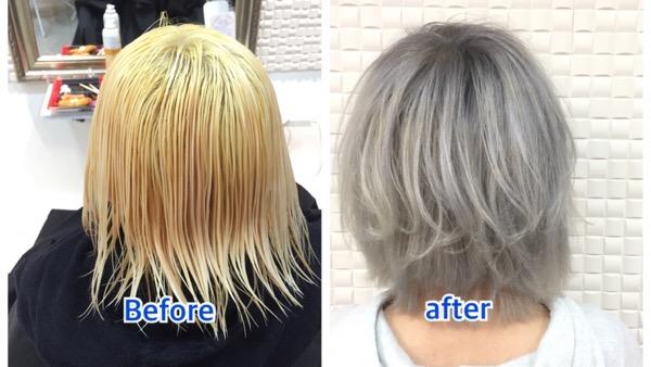【髪の毛を白くしたい方必見!】まじで綺麗なシルバーアッシュグレーの神カラー!!