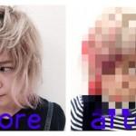 """アニメ美容師""""ビガシダミナ""""を更にショートに切っても小顔になるか検証した。"""