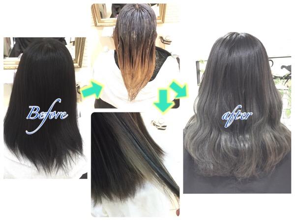 1度もカラーしたことないけど外国人風アッシュグレーのグラデーションしたい方へ【あやなさん】の髪