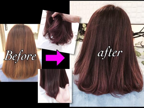 アッシュベースにピンクパープルが今年1番人気のピンクアッシュ【まなみさん】の髪