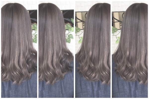 大阪でブリーチ毛を完璧なグレー(灰色)にする為に必要なダブルカラー秘儀