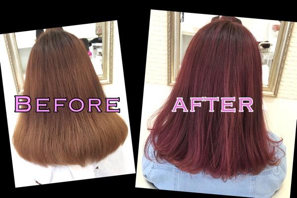 積み重ねるピンクカラーは濃厚で透明感もあるお洒落カラー【まなみさん】の髪