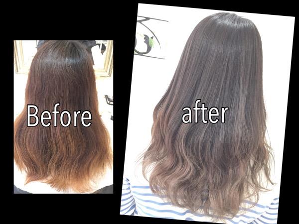 毛先の白いグラデーションカラーにしたい方はこうしよう!!【ゆうなさん】の髪