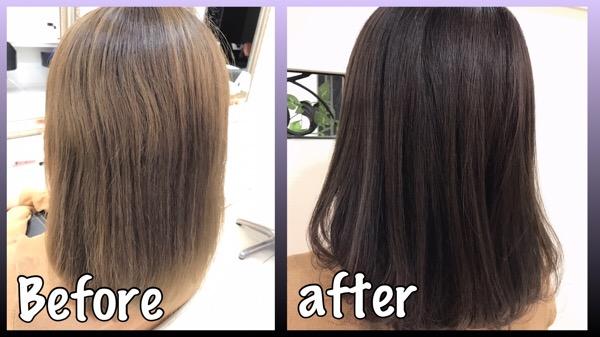 ブリーチ毛を活かした透明感のある濃いめのバイオレットアッシュが可愛すぎた!!【あやさん】の髪