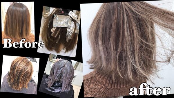 ハイライトからの外国人風カラーでハイトーンを極めよう!【まりなさん】の髪