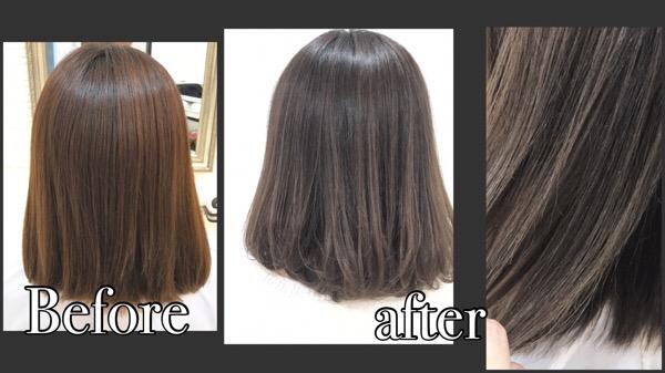 髪の毛に透明感と艶感を。上質なモノトーンバイオレットアッシュ【ようこさん】の髪
