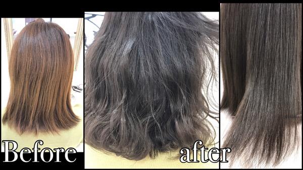 思ったアッシュにならない方、色持ちを良くしたい方は濃く染めよう!【かえでさん】の髪