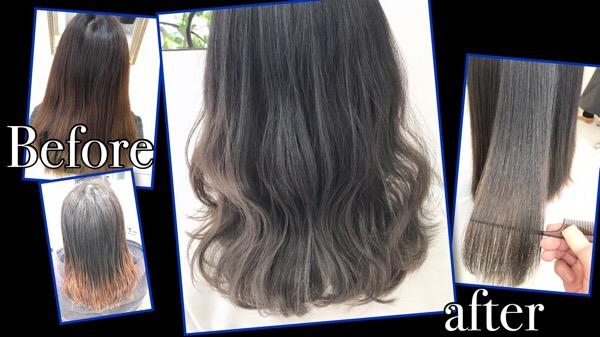 ベースが命!アッシュグレーのグラデーションカラー【ゆきさん】の髪