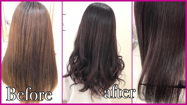 大阪でブルーピンクが透明感のある今お洒落なピンクカラー【あやかさん】の髪