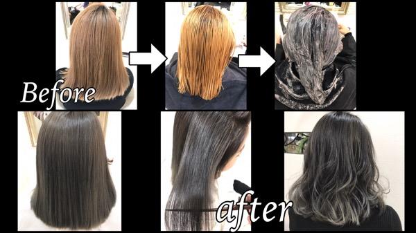 ブリーチサプリメントを使った外国人風カラーの決定版!濃厚グレープカラー【ゆりさん】の髪