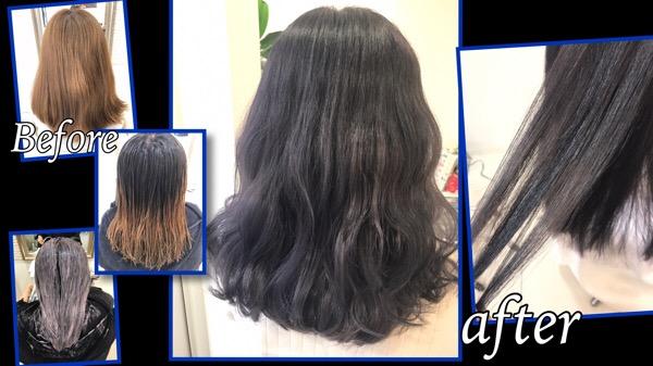 バイオレットブルーアッシュのグラデーションカラーが綺麗すぎる!!【ゆきさん】の髪