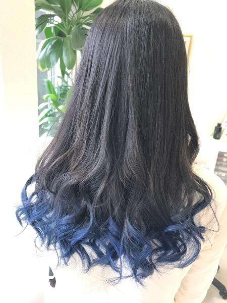 毛先を青くしたい方へ 段階的ブリーチで作るブルーカラーvol 2