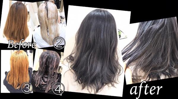 大阪でホワイトカラーにする方法はこのプロセスが必要!【ゆきさん】の髪