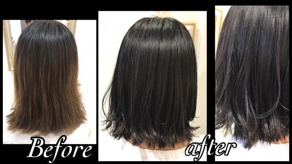 大阪でお洒落な黒髪にしたい方へ【みすぎさん】の髪
