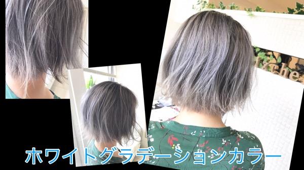アールブリーチを使った本田流ホワイトグラデーションカラー【みきさん】の髪