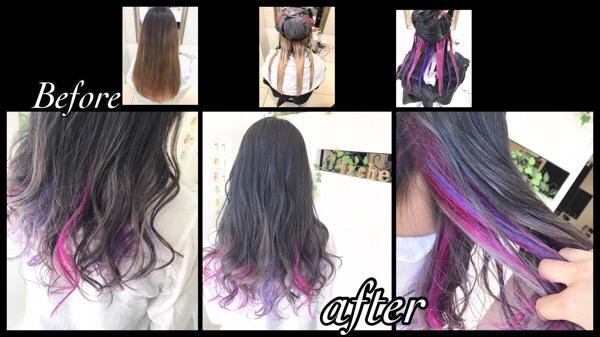 ピンク×ラベンダー×シルバーのインナーカラーが可愛すぎた!!【ももかさん】の髪