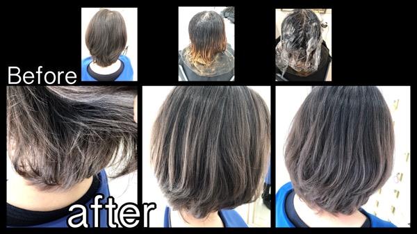 大阪で根元が伸びても気にならない外国人風グラデーションカラー【わかえさん】の髪