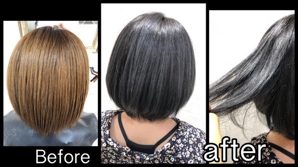 大阪でブリーチベースからの濃厚なスモークアッシュが綺麗!【ゆいさん】の髪