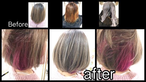 大阪でアールブリーチを使って外国人風カラーの透明感を引き出そう!【わこさん】の髪