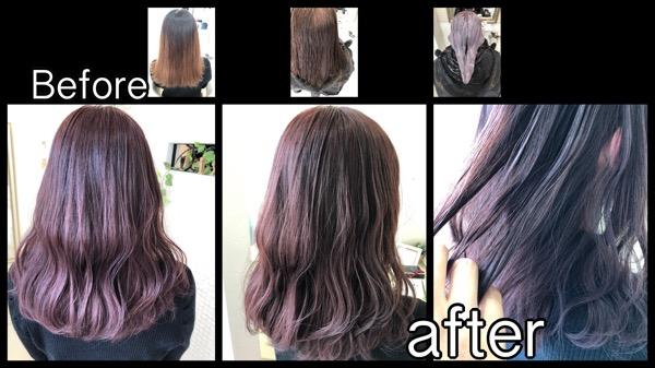 大阪でブリーチせずにマルサラピンクカラーを段階的に積み重ねていく!【まこさん】の髪