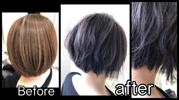 大阪で透明感抜群なラベンダーアッシュは濃厚に染めると綺麗!【ちあきさん】の髪