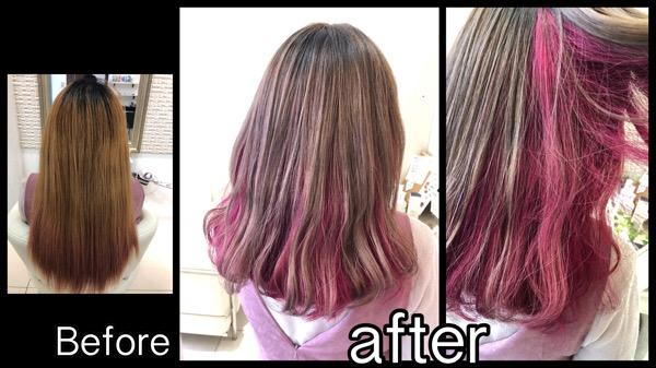 関西でピンクカラーの最高峰!圧倒的な鮮やかさに!【まみちゃん】の髪