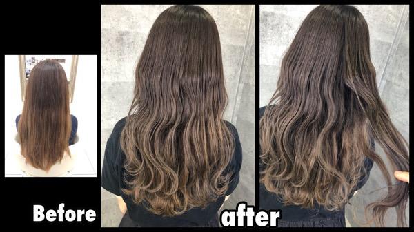 ノアカラーで再現する白髪を染めながらミルクグレージュで透明感のある外国人風カラー【ようこさん】の髪