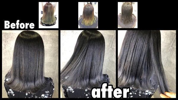 ノアカラー大阪|トリプルカラーで再現する濃厚シルバーグレーのグラデーションカラー【まなみさん】の髪