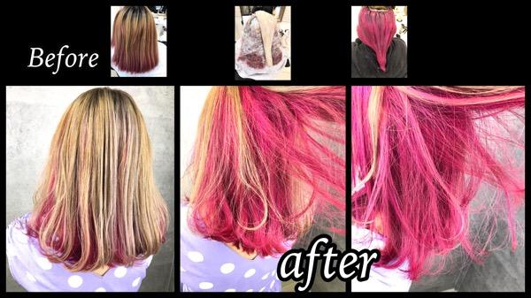 ボブに似合うピンクのインナーカラーとハイトーンミルクティーが可愛い!【まみちゃん】の髪