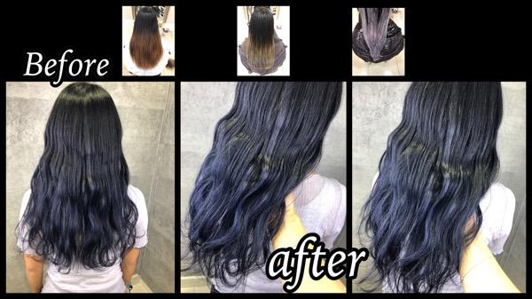 カラー剤で再現する濃厚ブルーバイオレットのお洒落カラー【しょうこさん】の髪