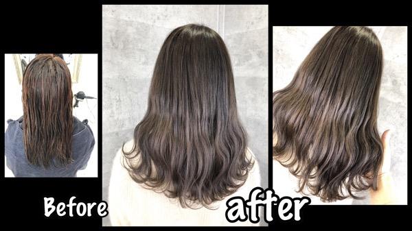大阪でブリーチをしない外国人風カラーを作るならダブルプロセス必須!【まみさん】の髪