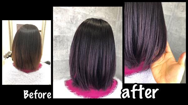 大阪で継続的に積み重ねるバイオレットカラーが色持ちも良くなる!【まうさん】の髪