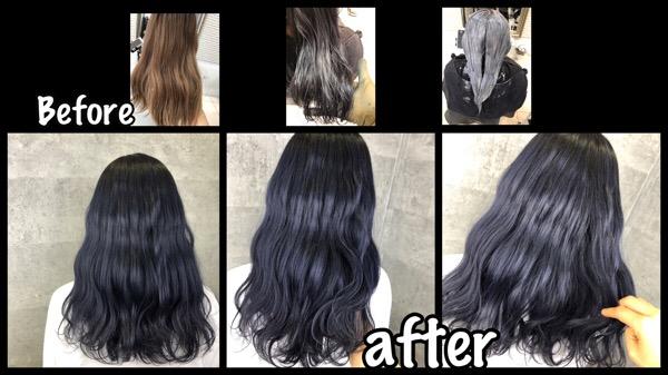 大阪でシルバーグレーカラーを再現する2回染めの濃厚カラー【まどかさん】の髪
