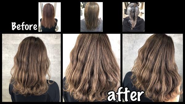 大阪で白髪を染めながら明るさをキープしたい方にオススメのプロセスはこれだ!【ゆみこさん】の髪