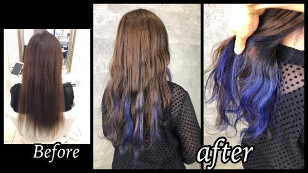 白髪を染めながら大阪でハイライトとインナーカラーでお洒落カラー【せいこさん】の髪
