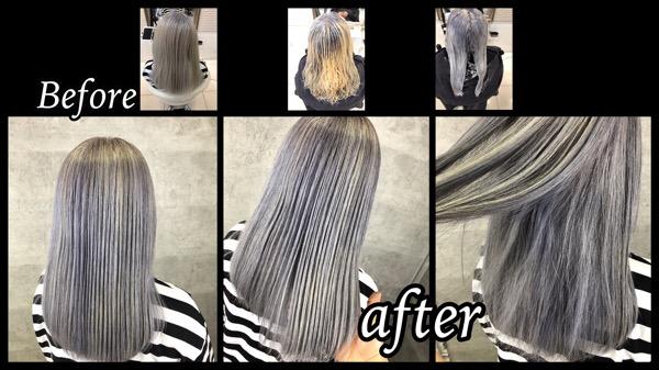 白髪染めをシルバーグレイヘアに!大阪で再現するにはこのプロセスで染めよう!