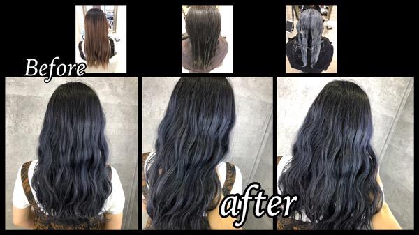 大阪豊中で色持ちが良くなるシルバーグレーの染め方はダブルカラー【まどかさん】の髪