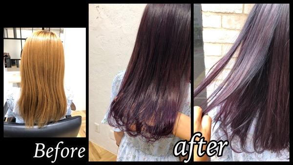 大阪梅田で濃厚なピンクラベンダーで透明感と鮮やかカラーが可愛い!【ゆまさん】の髪