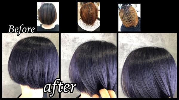 大阪豊中でブリーチ2回で再現する至高のラベンダーグレーで再現する最強外国人風カラー【みさとさん】の髪