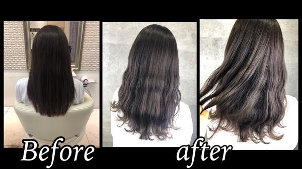 大阪豊中で透明感抜群なセピアグレージュで再現する外国人風カラー【りこさん】の髪