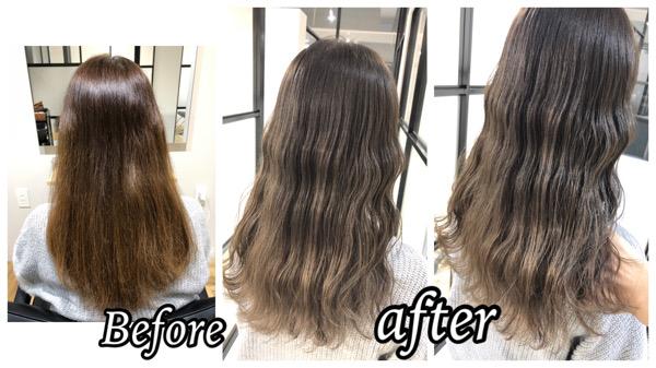 大阪豊中で白髪を明るい赤味のないベージュにする為の積み重ねプロセス【ゆかりさん】の髪